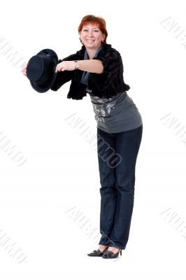 girl in the bowler hat