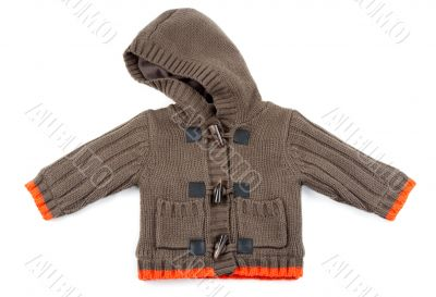 Brown Children`s knitted sweater