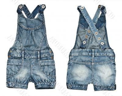 children`s denim shorts