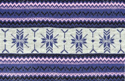 knitted blue background with a pattern