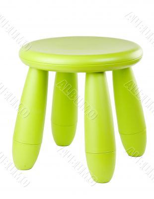 baby green plastic stool