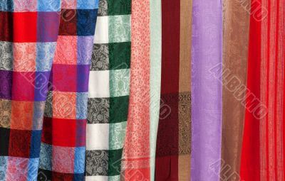 Background of colored fabric