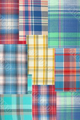 background patchwork plaid fabric