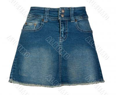 Women`s denim skirt