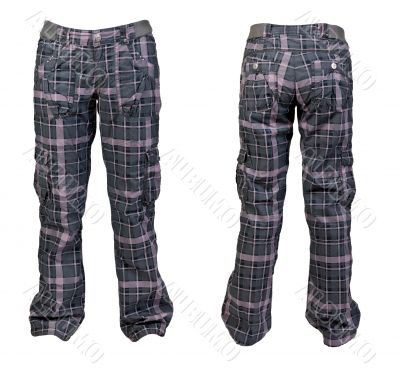 collage two warm plaid pants