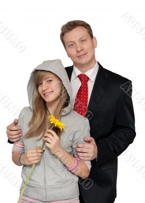 Dad with a teenage daughter