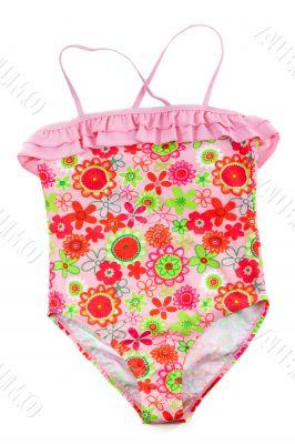 colorful children`s swimsuit