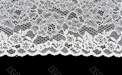 White patterned lace