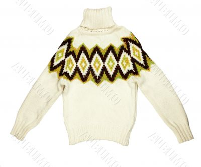 bright knit sweaters knitted with a pattern