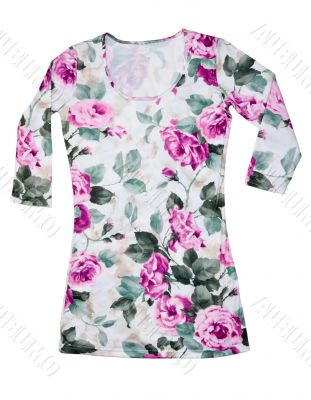 Light satin feminine gown