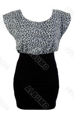 black skirt and gray sweater