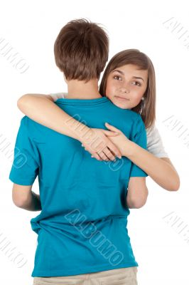 girl hugging guy
