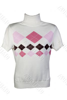 light sweater with a pattern in a diamond pattern
