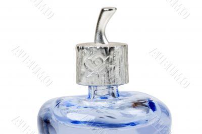 blue perfume bottle