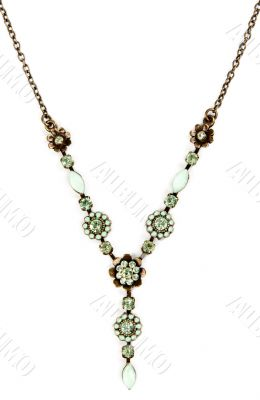 necklace with a pendant on a white background