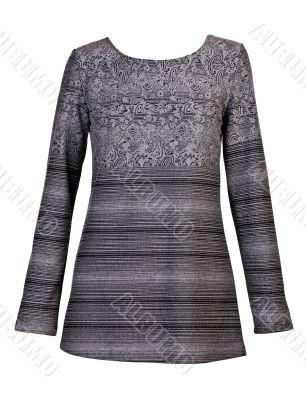 gray striped women`s dress