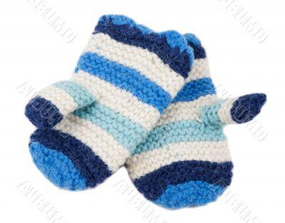 Warm knit gloves