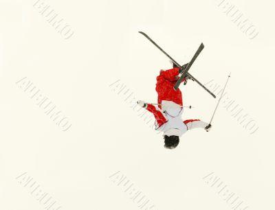 skier flip in the air