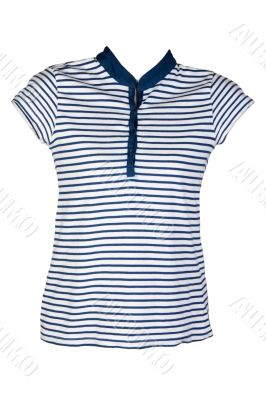 Women`s casual wear blue stripes