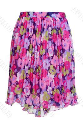 colored women`s skirt