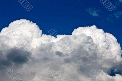 beautiful cumulus clouds