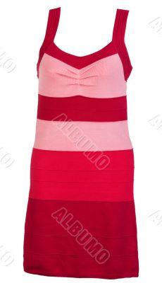 red knit striped dress