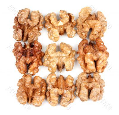 nine walnut halves