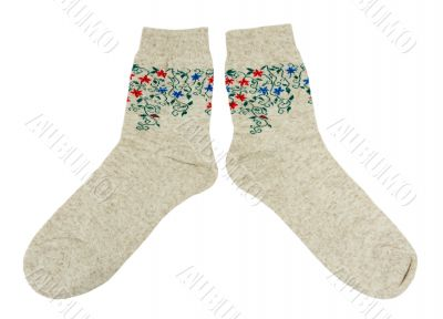 pair of socks made of linen
