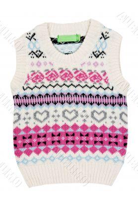 Children`s knitted vest