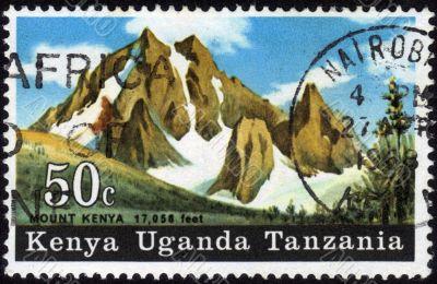Postage Stamp Mount Kenya