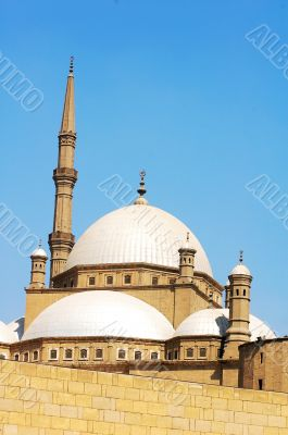 Scenery of the famous Islamic castle in Cairo,Egypt