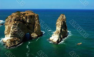 Pigeon Rocks,Beirut Lebanon