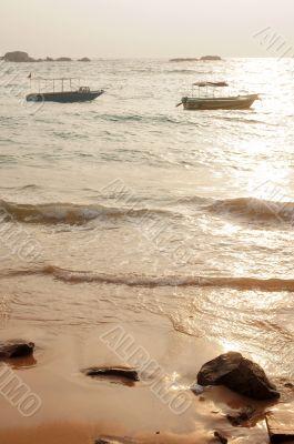 Boat at seashore