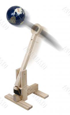 World War Wooden Catapult