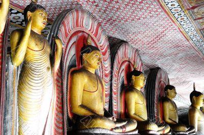 Historic buddha statues