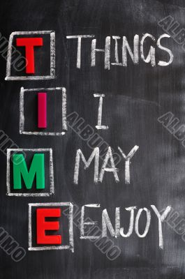 Acronym of Time for Things I May Enjoy