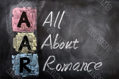 Acronym of AAR for All About Romance