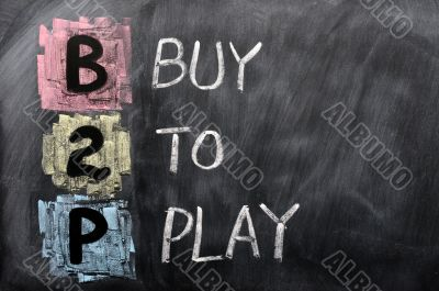 Acronym of B2P - Buy to Play