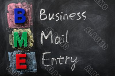 Acronym of BME for Business Mail Entry