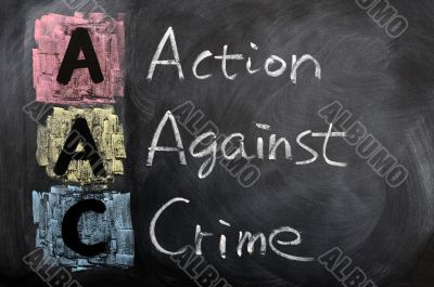 Acronym of AAC for Action against Crime