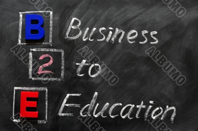 Acronym of B2E - Business to Education