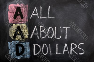 Acronym of AAD for All About Dollars