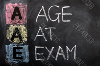 Acronym of AAE for Age at Exam