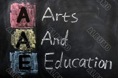 Acronym of AAE for Arts and Education