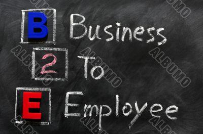 Acronym of B2E - Business to employee