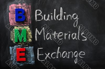 Acronym of BME for Building Materials Exchange