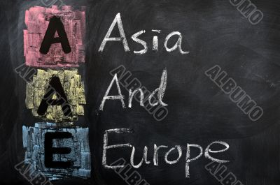 Acronym of AAE for Asia and Europe