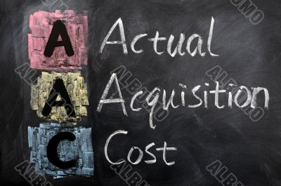 Acronym of AAC for Actual Acquisition Cost