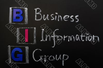 Acronym of BIG - Business Information Group