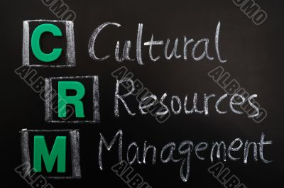 Acronym of CRM - Cultural Resources Management